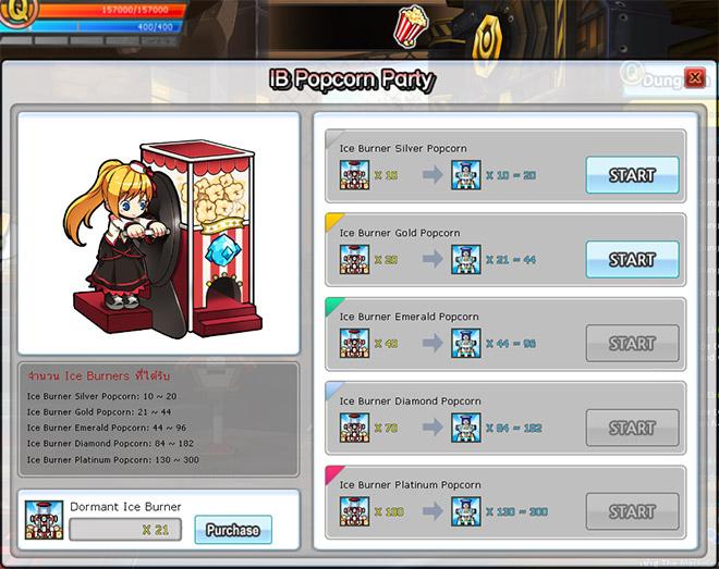 Ice Burner Popcorn Party!
