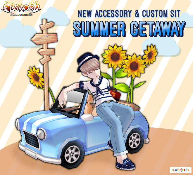 [Cash Shop] Summer Getaway Accessory + ท่านั่งใหม่
