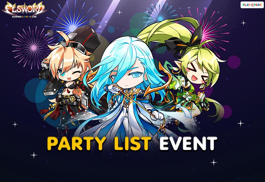 [Elsword] Party List Celebration Event