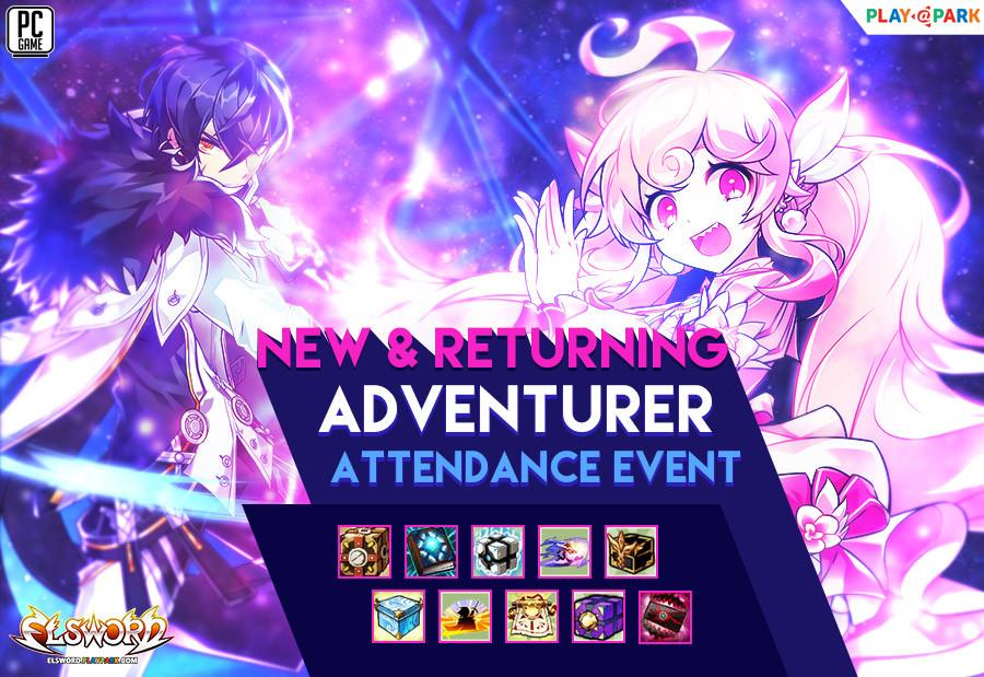 [Elsword] : New & Returning Adventurer Attendance Event